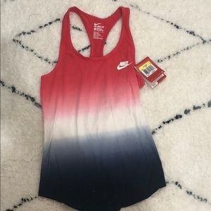 NIKE red, white, and blue tank top - NEW